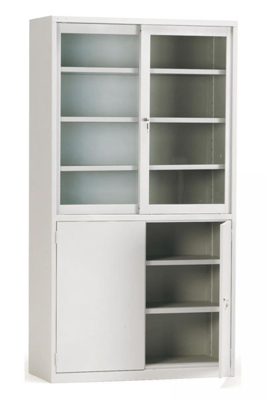 Armarios con puertas de cristal for Armarios para despachos
