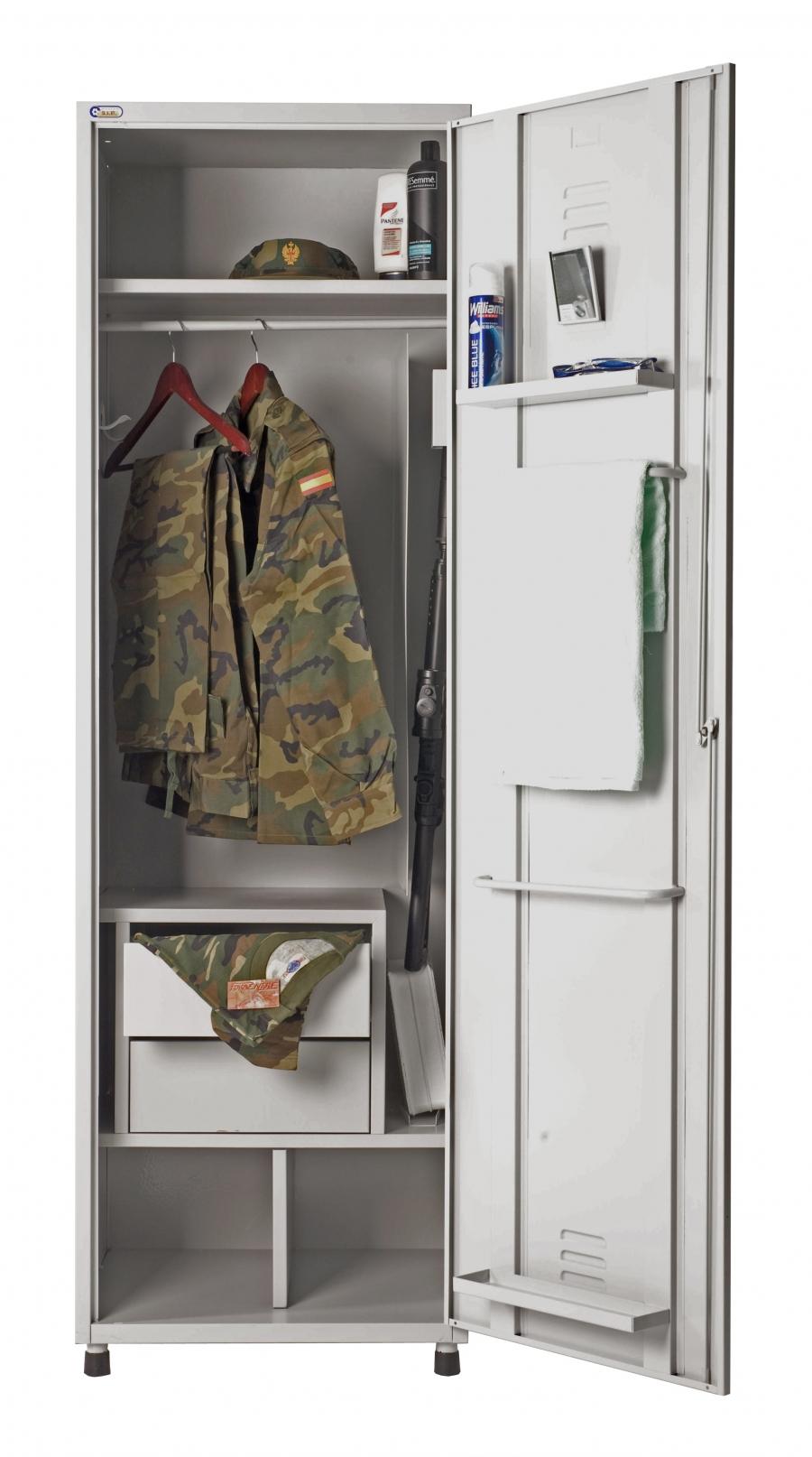 Taquillas para equipamiento militar